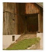 Slovenian Barn Fleece Blanket