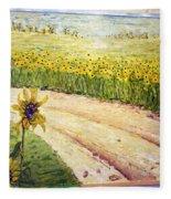Slunecnice2 Fleece Blanket