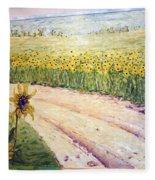 Slunecnice3 Fleece Blanket