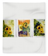 Slunecny-triptych Fleece Blanket