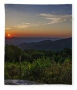 Skyline Drive National Park At Sunset Fleece Blanket