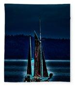 Small Among The Tall Ships Fleece Blanket