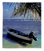 Small Boat Belize Fleece Blanket
