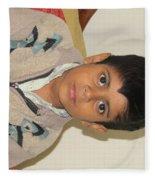 Small Child Images Fleece Blanket