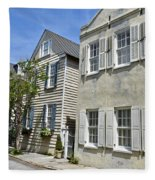 Small Colonial Style Homes Fleece Blanket
