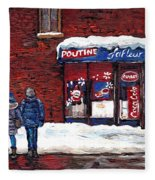 Small Format Paintings For Sale Poutine Lafleur Montreal Petits Formats A Vendre Cspandau Artist  Fleece Blanket