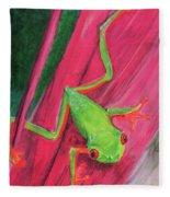 Small Frog Fleece Blanket