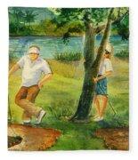Small Golf Hazard Fleece Blanket