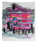 Small Landscape48 Fleece Blanket