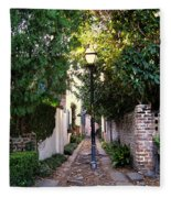 Small Lane In Charleston Fleece Blanket
