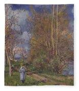 Small Meadows In Spring Fleece Blanket