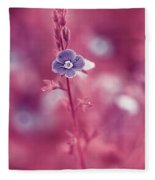 Small Romantic Violet Flower Fleece Blanket