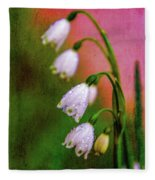 Small Signs Of Spring Fleece Blanket