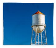 Small Town Water Tower Fleece Blanket