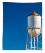 Small Town Water Tower Fleece Blanket