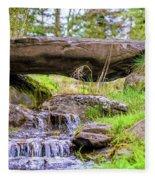 Small Waterfall 1 Fleece Blanket
