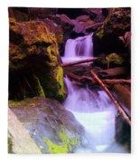 Small Waterfalls  Fleece Blanket