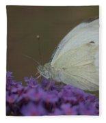 Small White Fleece Blanket
