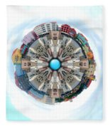 Small World In The Clouds Fleece Blanket