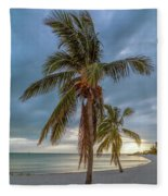 Smathers Beach Coconut Sunset Fleece Blanket