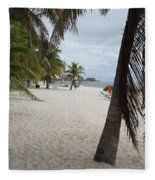 Smathers Beach - Key West Fleece Blanket