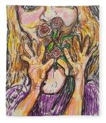 Smell The Roses Fleece Blanket