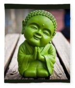 Smiley Buddha Fleece Blanket