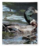 Smiling Duck Fleece Blanket