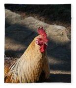 Smiling Rooster Fleece Blanket