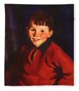 Smiling Tom Thomas Cafferty 1924 Fleece Blanket