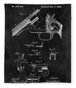 Smith And Wesson Model 3 Patent Fleece Blanket