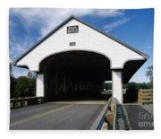 Smith Covered Bridge - Plymouth New Hampshire Usa Fleece Blanket