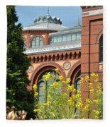 Smithsonian Bloom Fleece Blanket