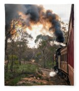 Smoke And Fire Fleece Blanket