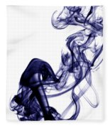 Smoke Photography - Blue Fleece Blanket