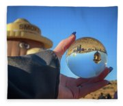 Smokey Bear Balloon In The Crystal Ball Fleece Blanket
