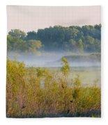 Smokey Marshland Fleece Blanket