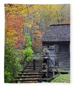Smokey Mountain Grist Mill Fleece Blanket