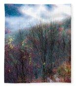 Smokey Mountain Ridge Fleece Blanket