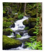 Smokey Mountain Stream Fleece Blanket