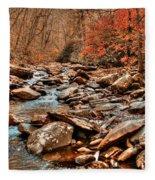 Smokey Mountain Streams And Fall Foilage 2 Fleece Blanket