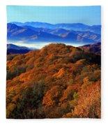 Smokey Mountain Sunrise Fleece Blanket