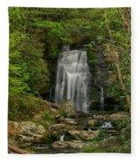 Smokey Mountain Waterfall Fleece Blanket
