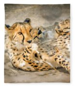 Smokin Cheetah Love Fleece Blanket