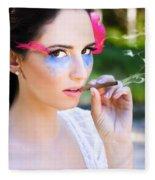 Smoking Glamour Fleece Blanket