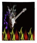 Smoking Guitar Fleece Blanket