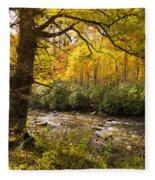 Smoky Autumn Fleece Blanket