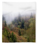 Smoky Mount Vertical Fleece Blanket
