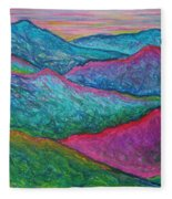 Smoky Mountain Abstract Fleece Blanket