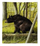 Smoky Mountain Bear Fleece Blanket